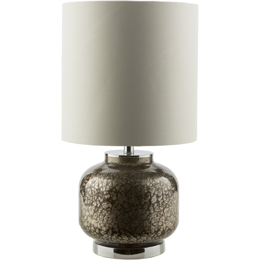 Surya Carmichael 24-in Pewter Indoor Table Lamp with Fabric Shade