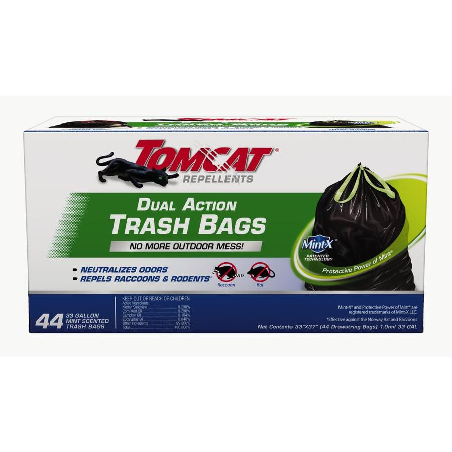 TOMCAT Dual Action Trash Bags 44-Count Mouse Repellent