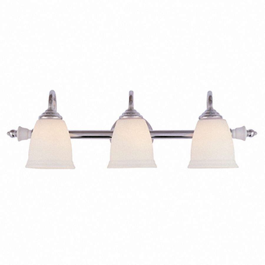 Portfolio 3 Light Polished Chrome Bathroom Vanity Light
