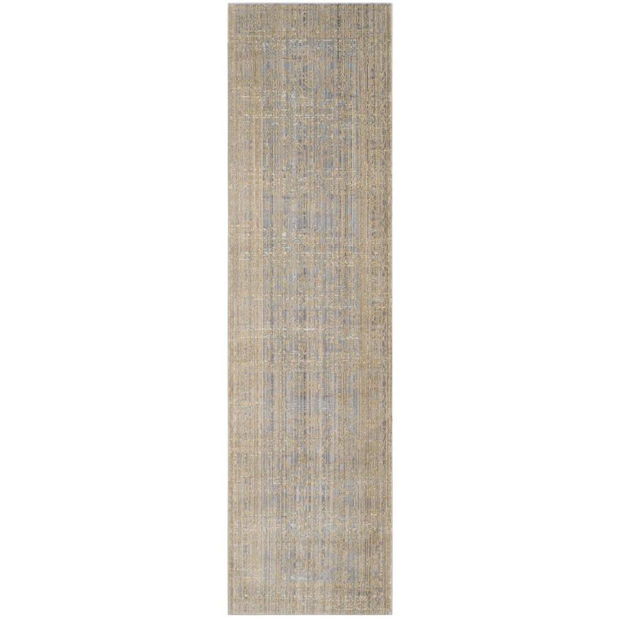 Safavieh Valencia Samara Gray/Gold Indoor Distressed Runner (Common: 2 x 8; Actual: 2.25-ft W x 8-ft L)