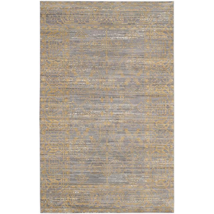 Safavieh Valencia Gray/Gold Rectangular Indoor Machine-Made Distressed Area Rug (Common: 5 x 7; Actual: 5-ft W x 8-ft L)