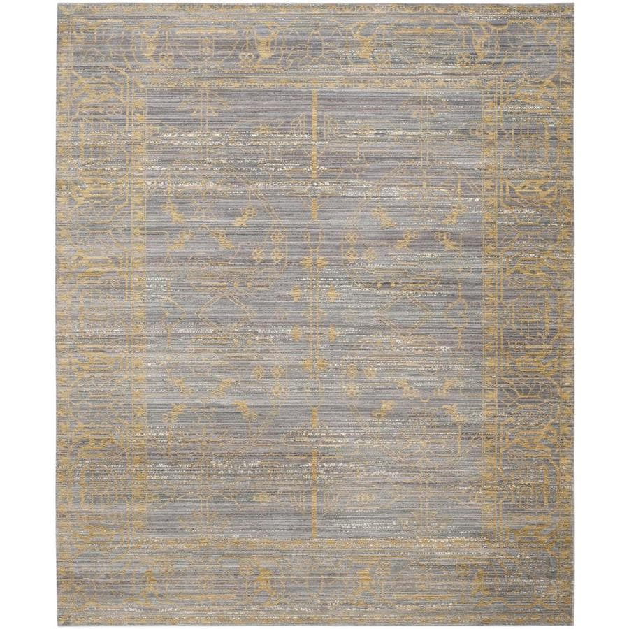 shop safavieh valencia samara gray gold indoor distressed area rug common 9 x 12 actual 9 ft. Black Bedroom Furniture Sets. Home Design Ideas