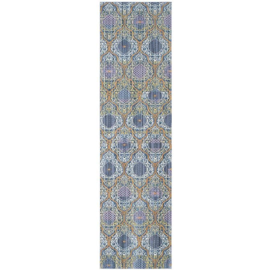 Safavieh Valencia Griffin Lavender/Gold Rectangular Indoor Machine-made Distressed Runner (Common: 2 x 8; Actual: 2.25-ft W x 8-ft L)