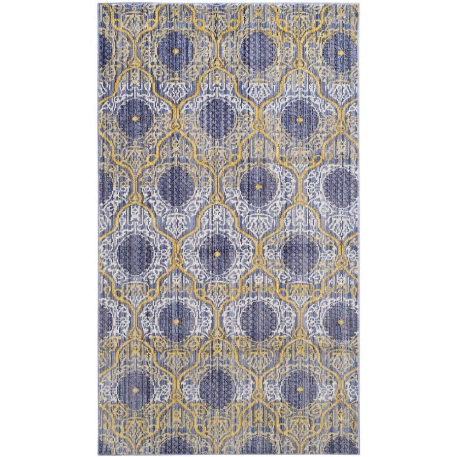 Safavieh Valencia Lavender/Gold Rectangular Indoor Machine-Made Distressed Area Rug (Common: 4 x 6; Actual: 4-ft W x 6-ft L)