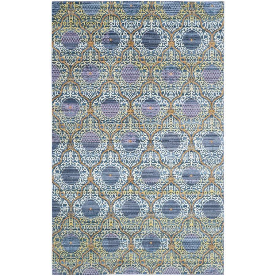 Safavieh Valencia Griffin Lavender/Gold Indoor Distressed Area Rug (Common: 5 x 8; Actual: 5-ft W x 8-ft L)