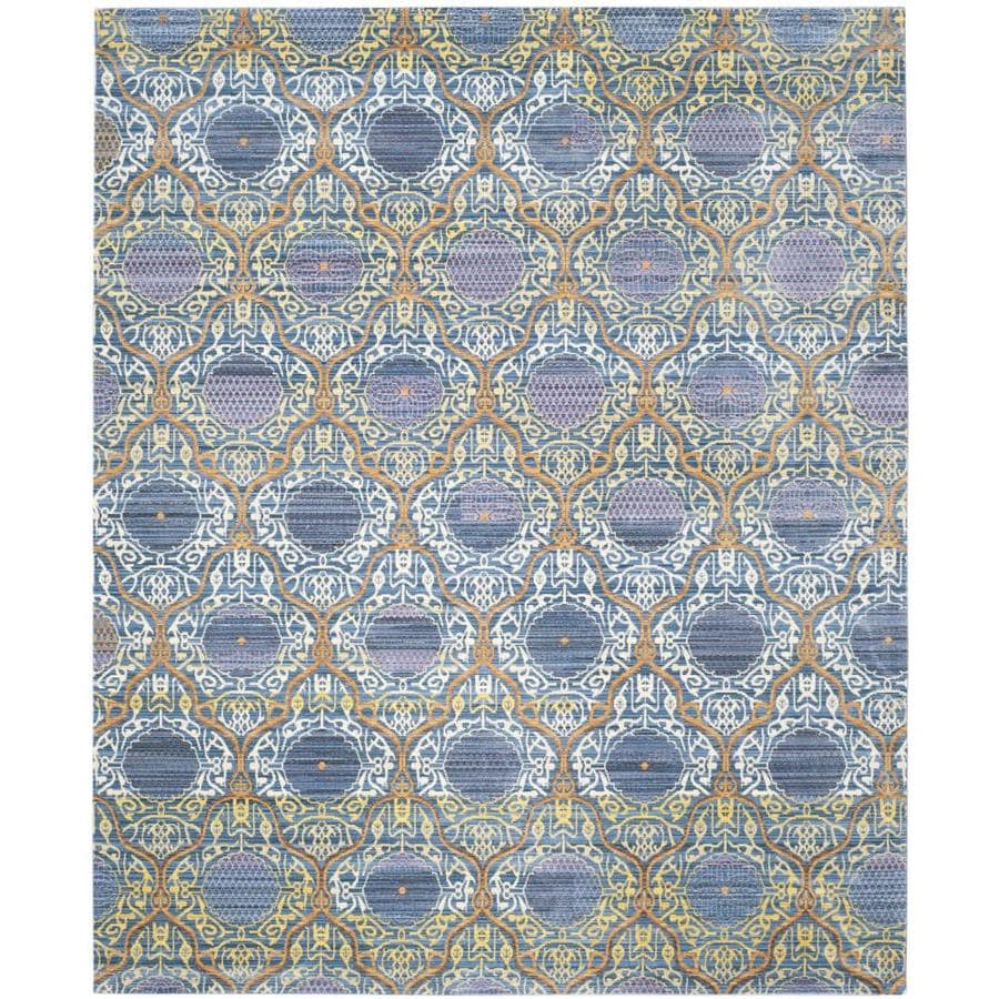 Safavieh Valencia Griffin Lavender/Gold Rectangular Indoor Machine-made Distressed Area Rug (Common: 8 x 10; Actual: 8-ft W x 10-ft L)