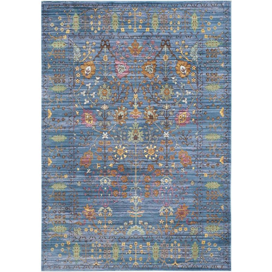Safavieh Valencia Odessa Blue/Multi Rectangular Indoor Machine-made Distressed Area Rug (Common: 5 x 8; Actual: 5-ft W x 8-ft L)