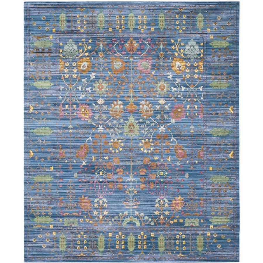 Safavieh Valencia Odessa Blue Indoor Distressed Area Rug (Common: 8 x 10; Actual: 8-ft W x 10-ft L)