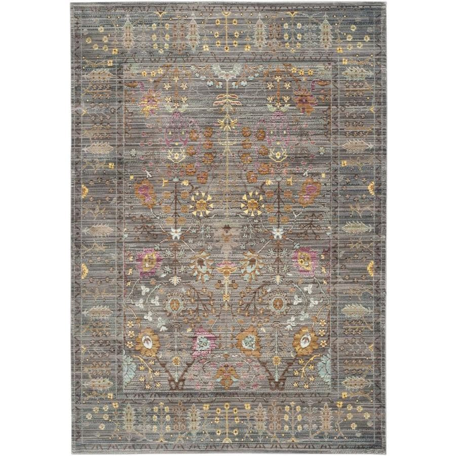 Safavieh Valencia Odessa Gray Indoor Distressed Area Rug (Common: 4 x 6; Actual: 4-ft W x 6-ft L)