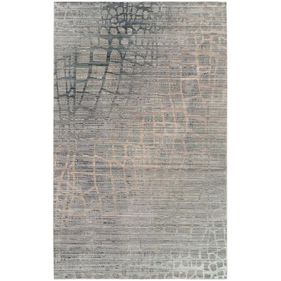 Safavieh Valencia Gray/Multi Rectangular Indoor Machine-Made Distressed Area Rug (Common: 4 x 6; Actual: 4-ft W x 6-ft L)
