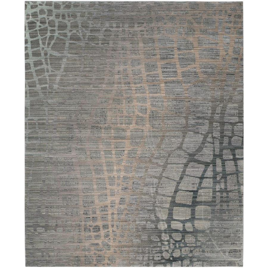 Safavieh Valencia Grey/Multi Rectangular Indoor Machine-Made Area Rug