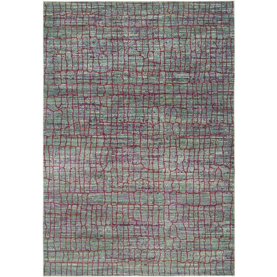Safavieh Valencia Gretta Green/Red Rectangular Indoor Machine-made Distressed Area Rug (Common: 4 x 6; Actual: 4-ft W x 6-ft L)