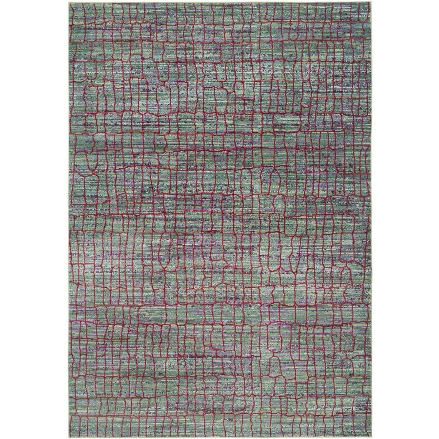 Safavieh Valencia Gretta Green/Red Rectangular Indoor Machine-made Distressed Area Rug (Common: 5 x 8; Actual: 5-ft W x 8-ft L)