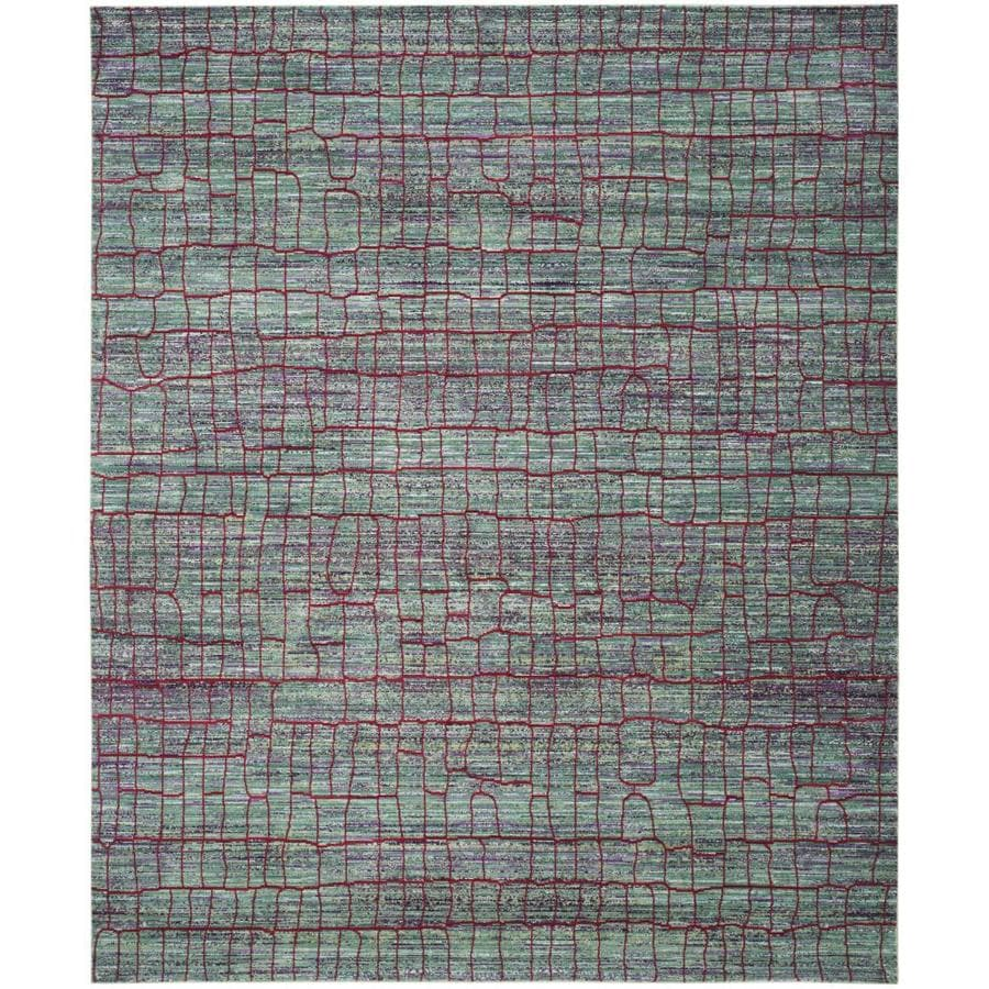 Safavieh Valencia Gretta Green/Red Indoor Distressed Area Rug (Common: 8 x 10; Actual: 8-ft W x 10-ft L)