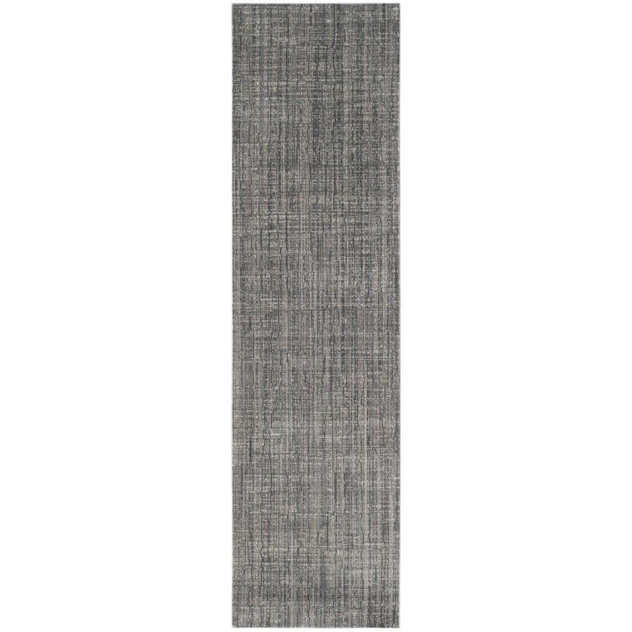 Safavieh Valencia Gray/Multi Rectangular Indoor Machine-Made Distressed Runner (Common: 2 x 8; Actual: 2.25-ft W x 8-ft L)
