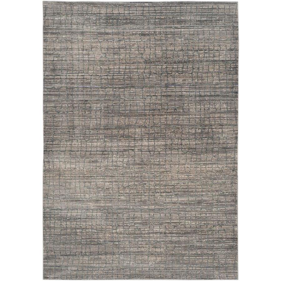 Safavieh Valencia Gray/Multi Rectangular Indoor Machine-Made Distressed Area Rug (Common: 5 x 7; Actual: 5-ft W x 8-ft L)