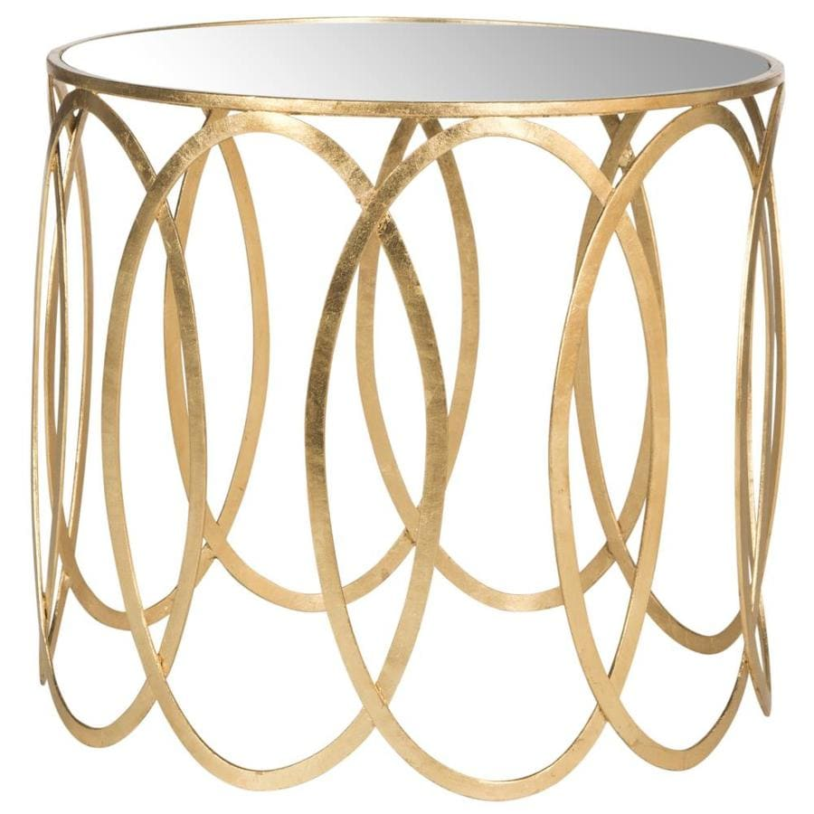 Safavieh Fox Antique Gold Leaf Round End Table