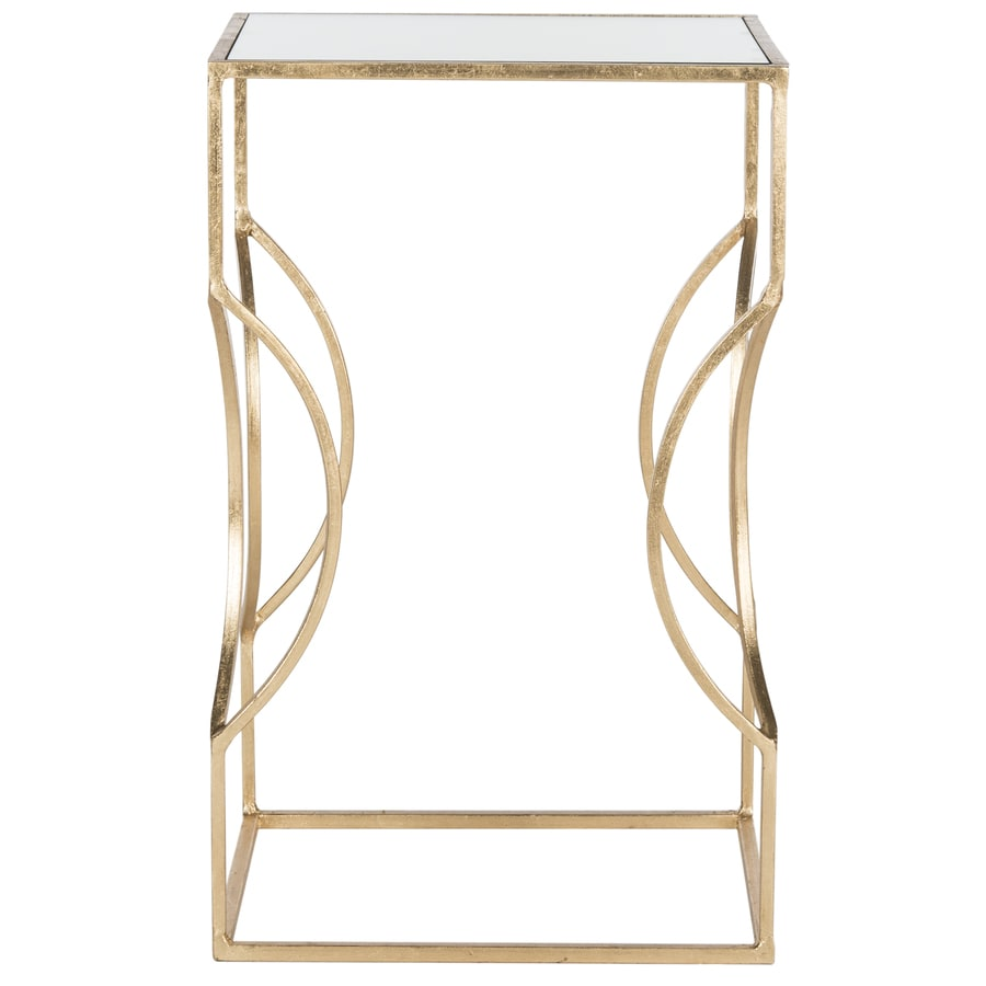 Safavieh Vera Antique Gold Leaf End Table