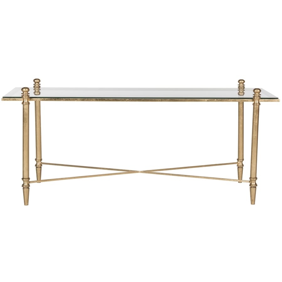 gold glass coffee table Safavieh Tait Antique Gold Glass Coffee Table at Lowes.com gold glass coffee table