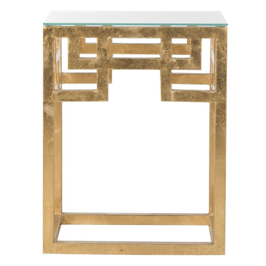 Safavieh Byram Antique Gold Leaf End Table