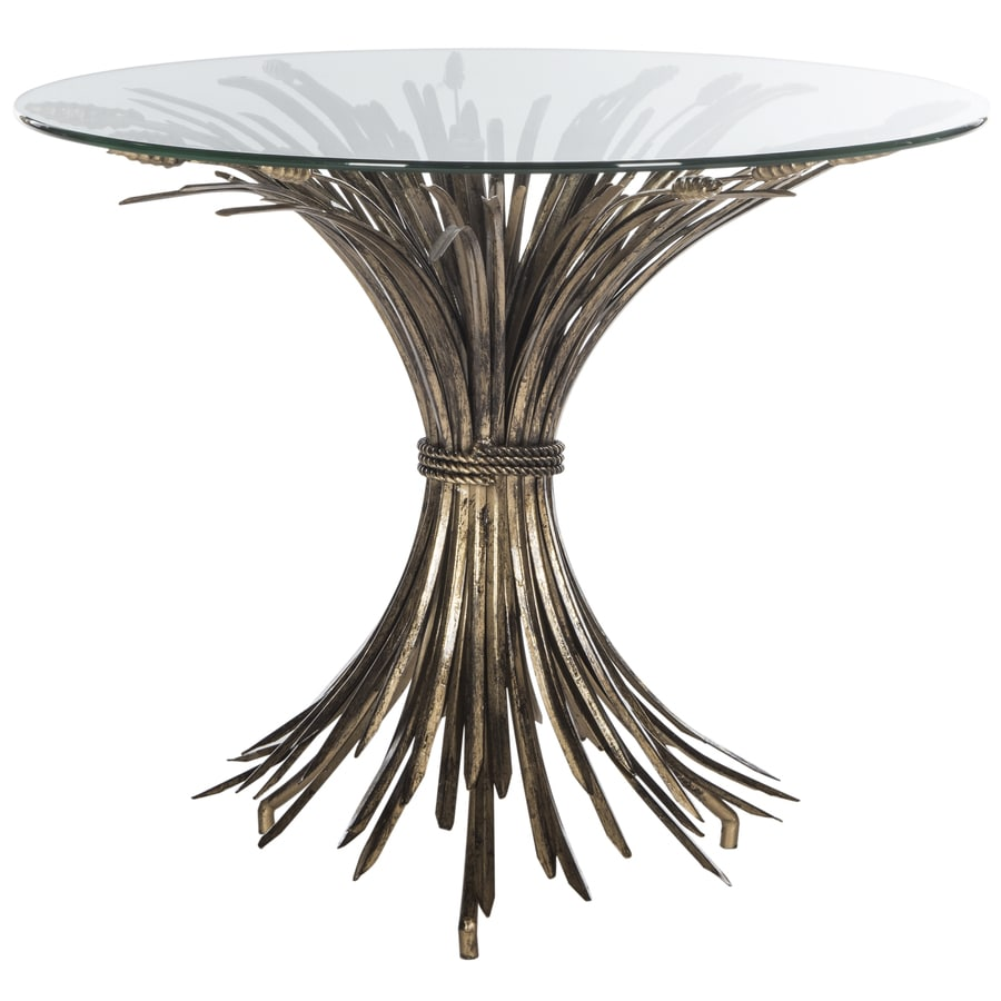 Https Www Lowes Com Pd Safavieh Fox Antique Gold Leaf Round End Table 1000121389