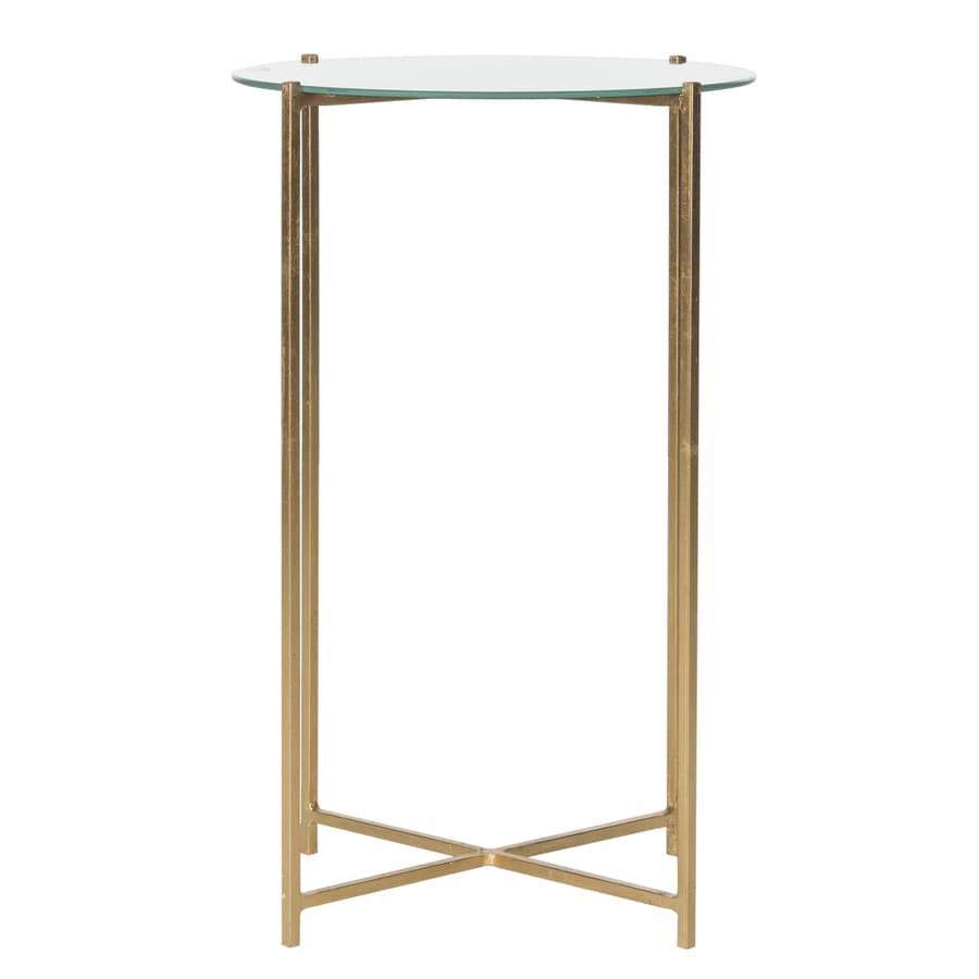 Safavieh Sylvain Antique Gold Leaf End Table
