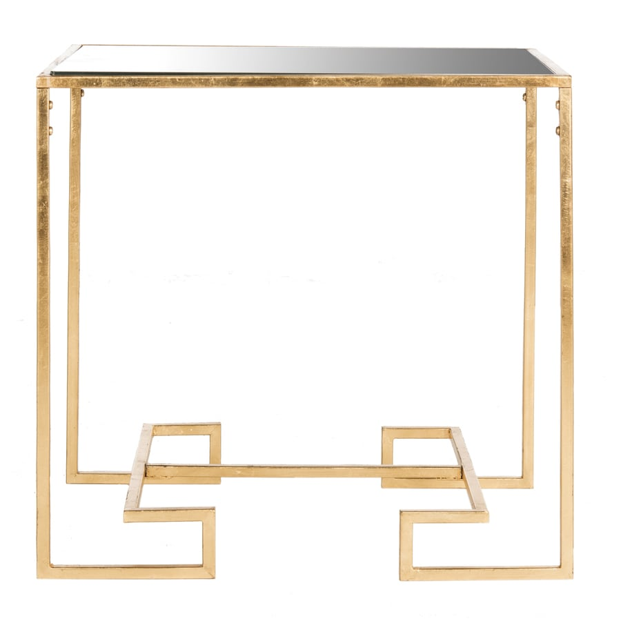 Safavieh Fox Antique Gold Leaf Rectangular End Table