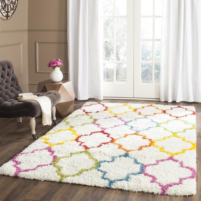 Safavieh Kids Soho Shag 4 X 6 Ivory Multi Indoor Abstract Kids Area Rug In The Rugs Department At Lowes Com