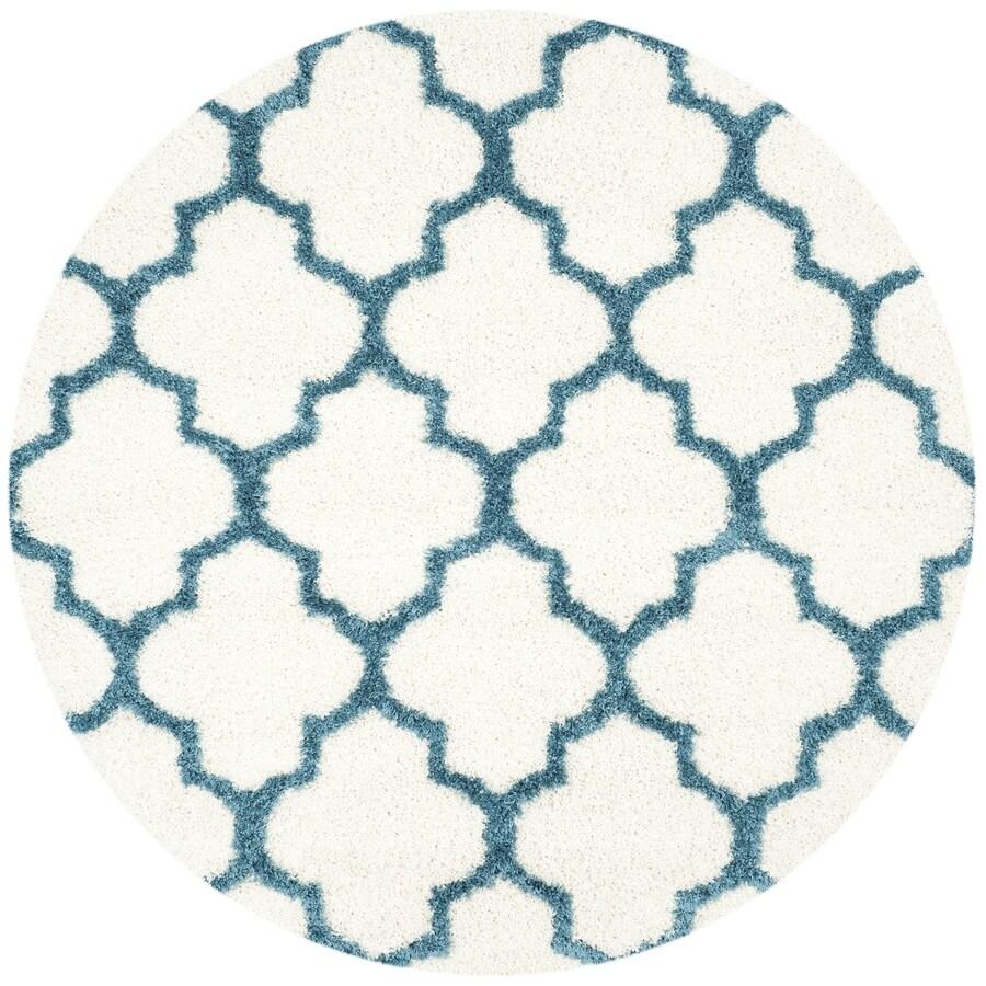 Safavieh Blue Round Indoor Kids Area Rug (Common: 7 x 7; Actual: 6.7-ft W x 6.6-ft L x 6.6-ft dia)