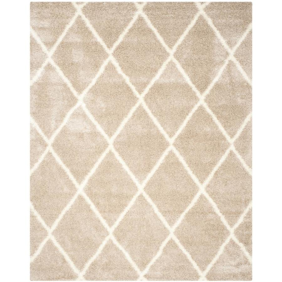 Safavieh Montreal Laval Shag Beige/Ivory Rectangular Indoor Area Rug (Common: 7 x 10; Actual: 6.6-ft W x 9.5-ft L)