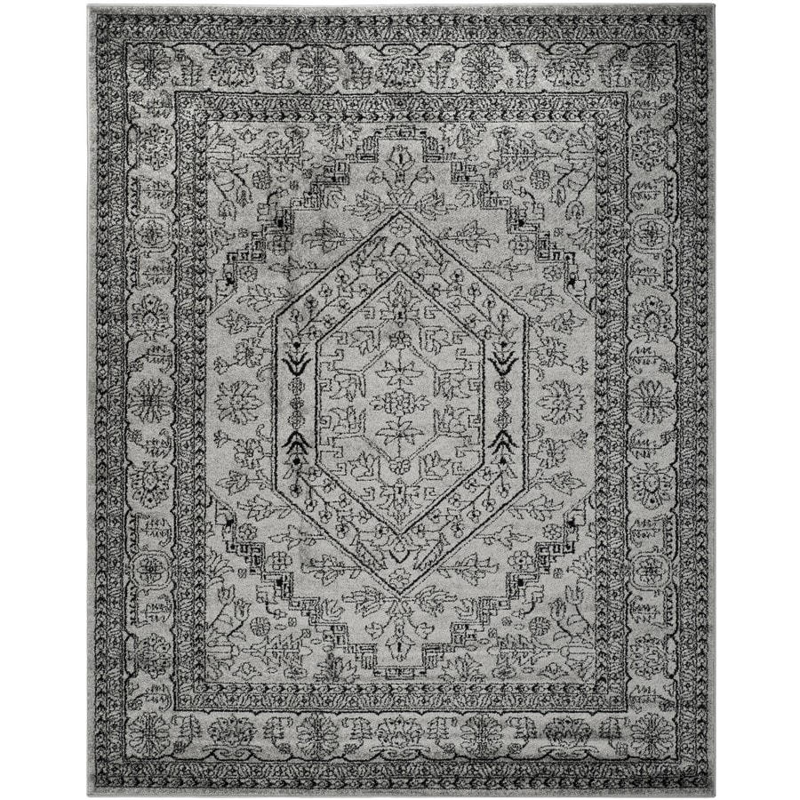 Safavieh Adirondack Silver/Black Rectangular Indoor Machine-Made Lodge Area Rug (Common: 10 x 14; Actual: 11-ft W x 15-ft L x 0-ft Dia)