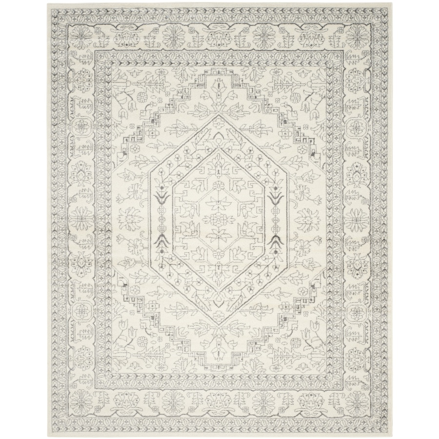 Safavieh Adirondack Ivory/Silver Rectangular Indoor Machine-Made Lodge Area Rug (Common: 10 x 14; Actual: 11-ft W x 15-ft L x 0-ft Dia)