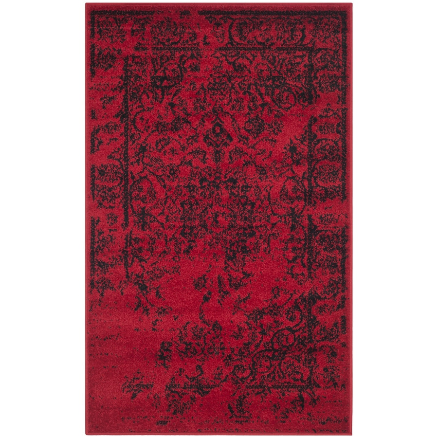 Safavieh Adirondack Red/Black Rectangular Indoor Machine-Made Lodge Runner (Common: 2.3 x 6; Actual: 2.5-ft W x 6-ft L x 0-ft Dia)