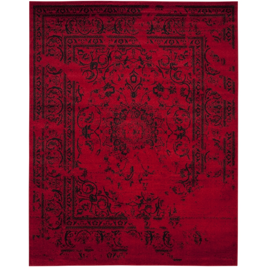 Safavieh Adirondack Red/Black Rectangular Indoor Machine-Made Lodge Area Rug (Common: 9 x 12; Actual: 9-ft W x 12-ft L x 0-ft Dia)