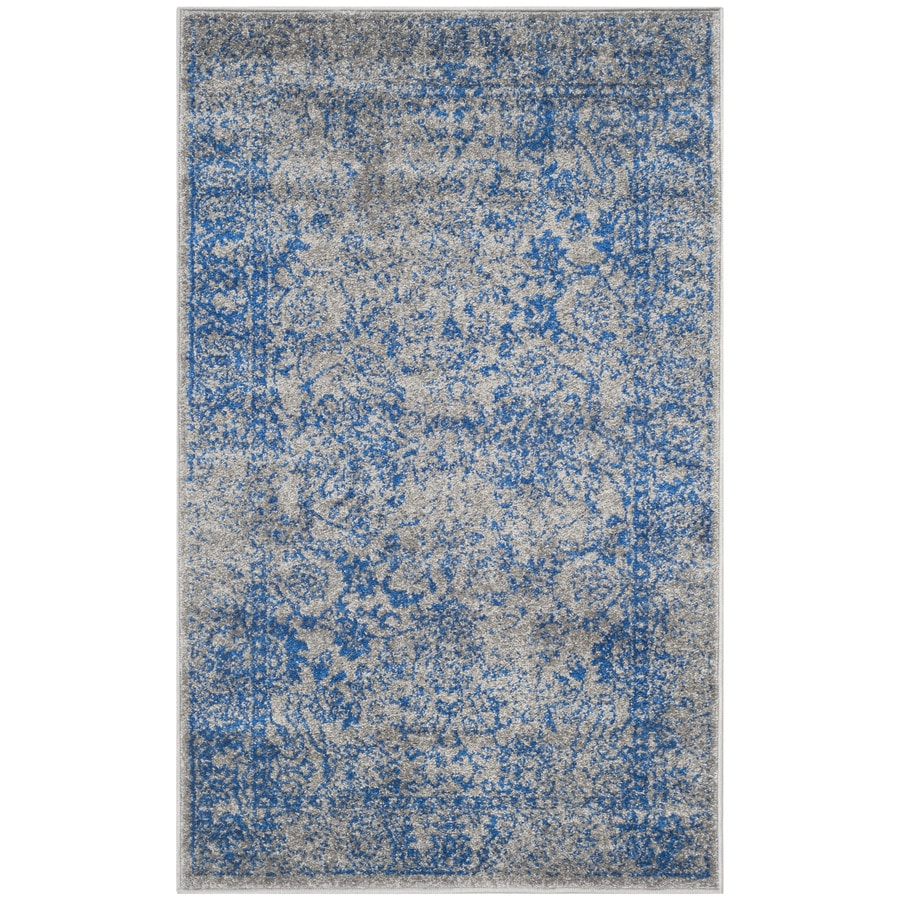 Safavieh Adirondack Kashan Gray/Blue Indoor Lodge Runner (Common: 2 x 6; Actual: 2.5-ft W x 6-ft L)