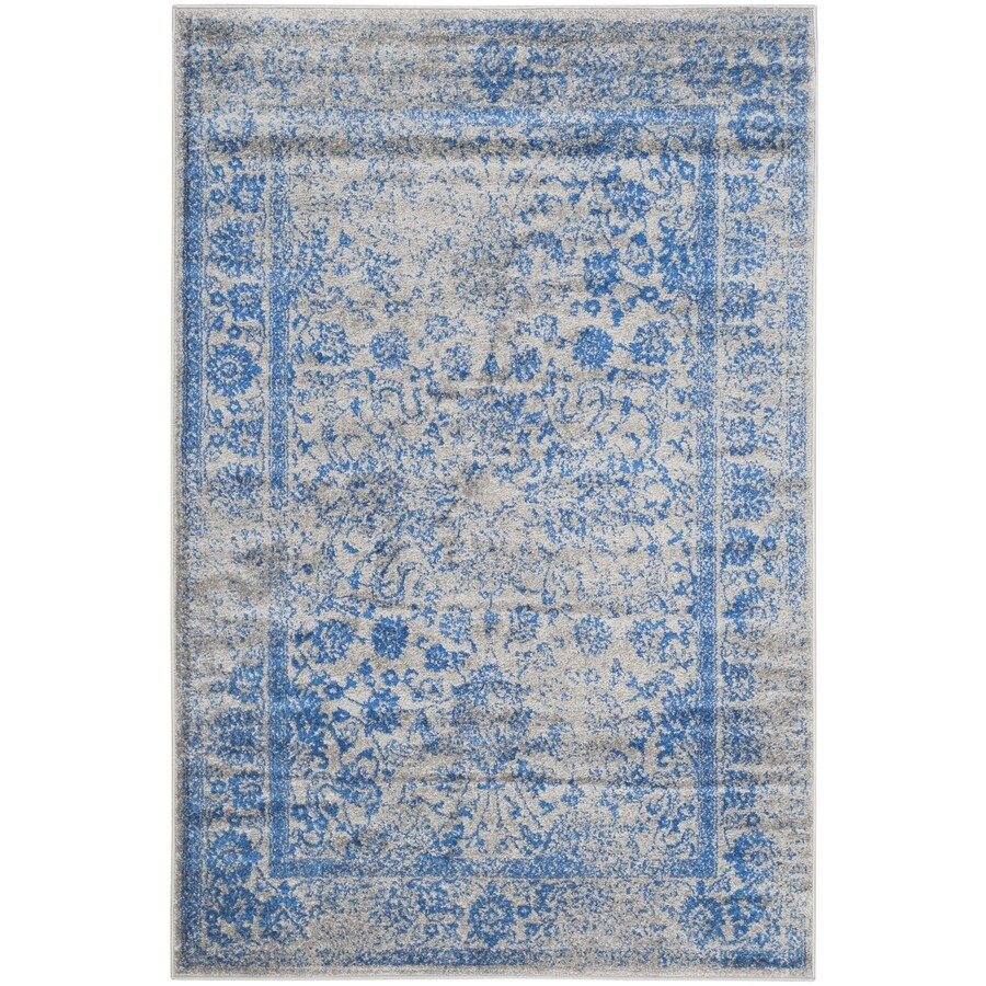 Shop Safavieh Adirondack Kashan Gray Blue Rectangular