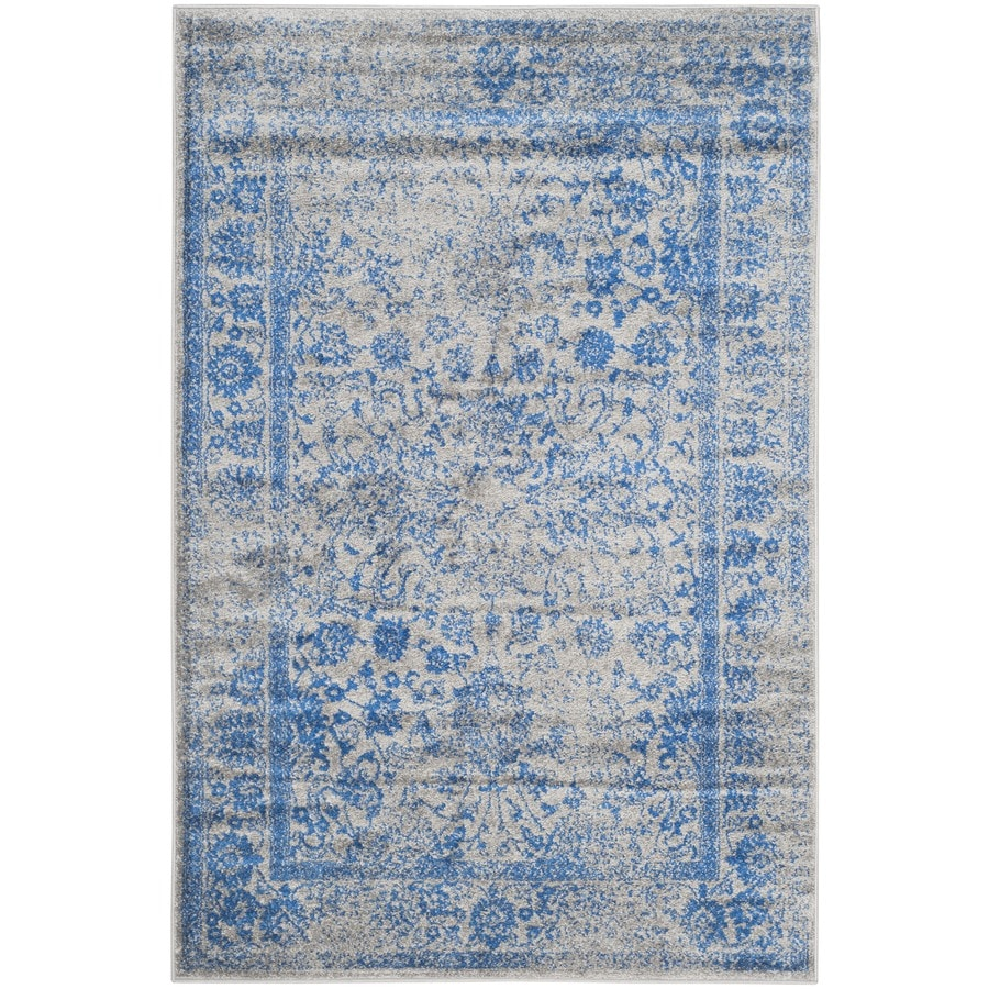 Safavieh Adirondack Kashan Gray/Blue Indoor Lodge Area Rug (Common: 6 x 9; Actual: 6-ft W x 9-ft L)