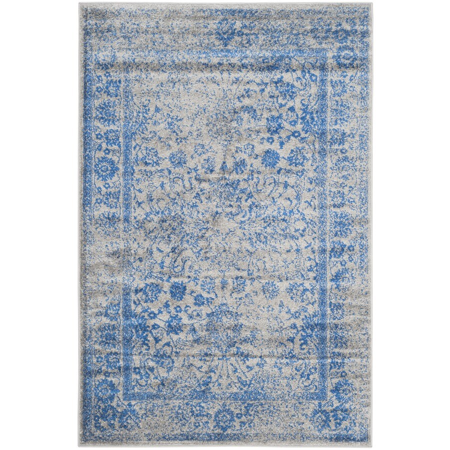 Safavieh Adirondack Kashan Gray/Blue Rectangular Indoor Machine-made Lodge Area Rug (Common: 6 x 9; Actual: 6-ft W x 9-ft L)