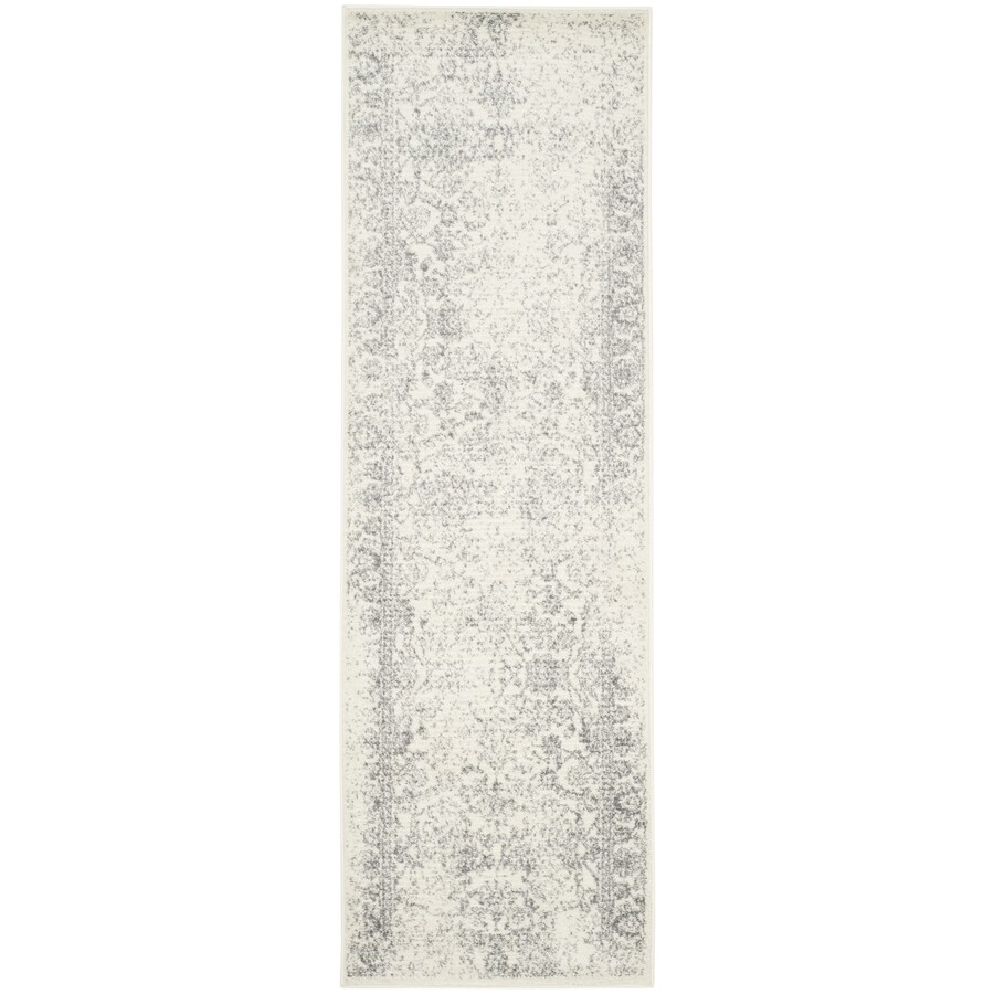 Safavieh Adirondack Kashan Ivory/Silver Indoor Lodge Runner (Common: 2 x 8; Actual: 2.5-ft W x 8-ft L)