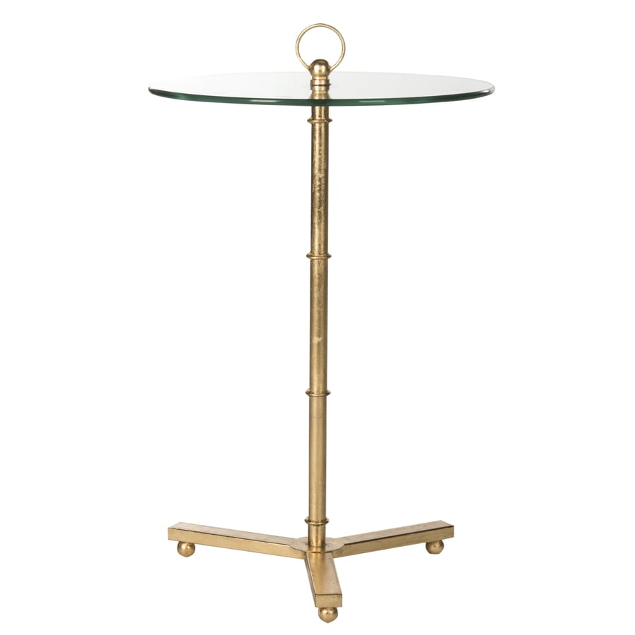 Safavieh Adair Antique Gold Leaf End Table