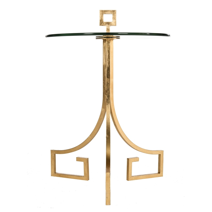 Safavieh Esmee Antique Gold Leaf End Table