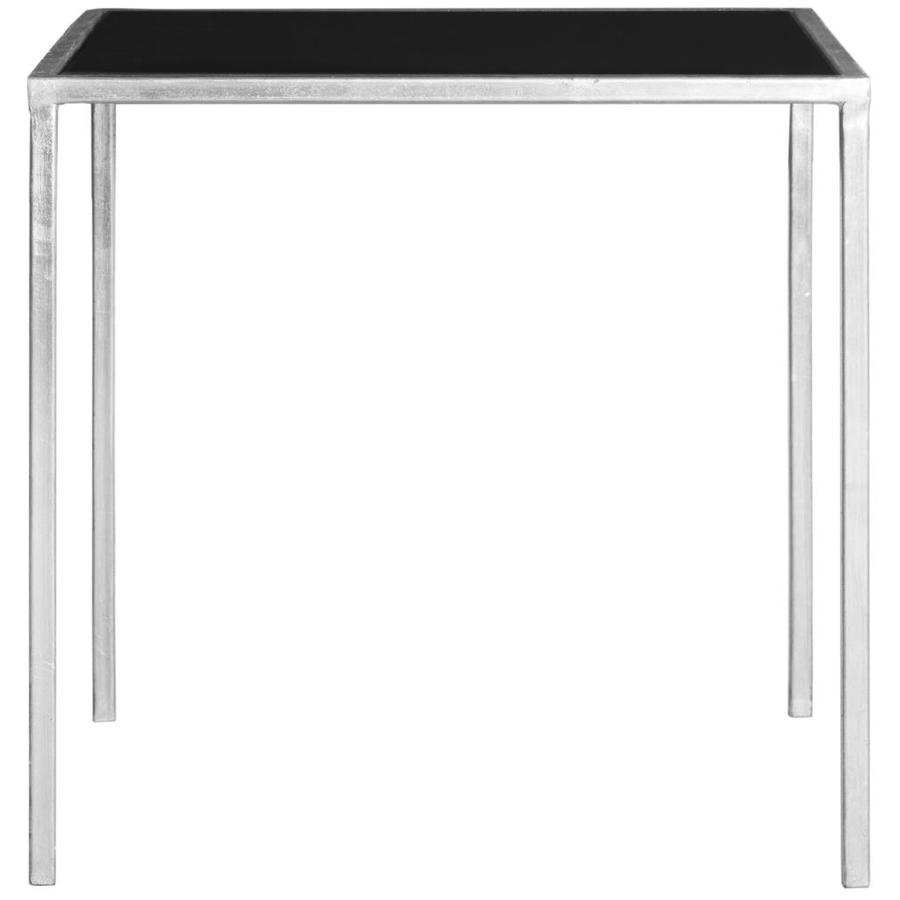 Safavieh Kiley Silver/Black Glass Top End Table