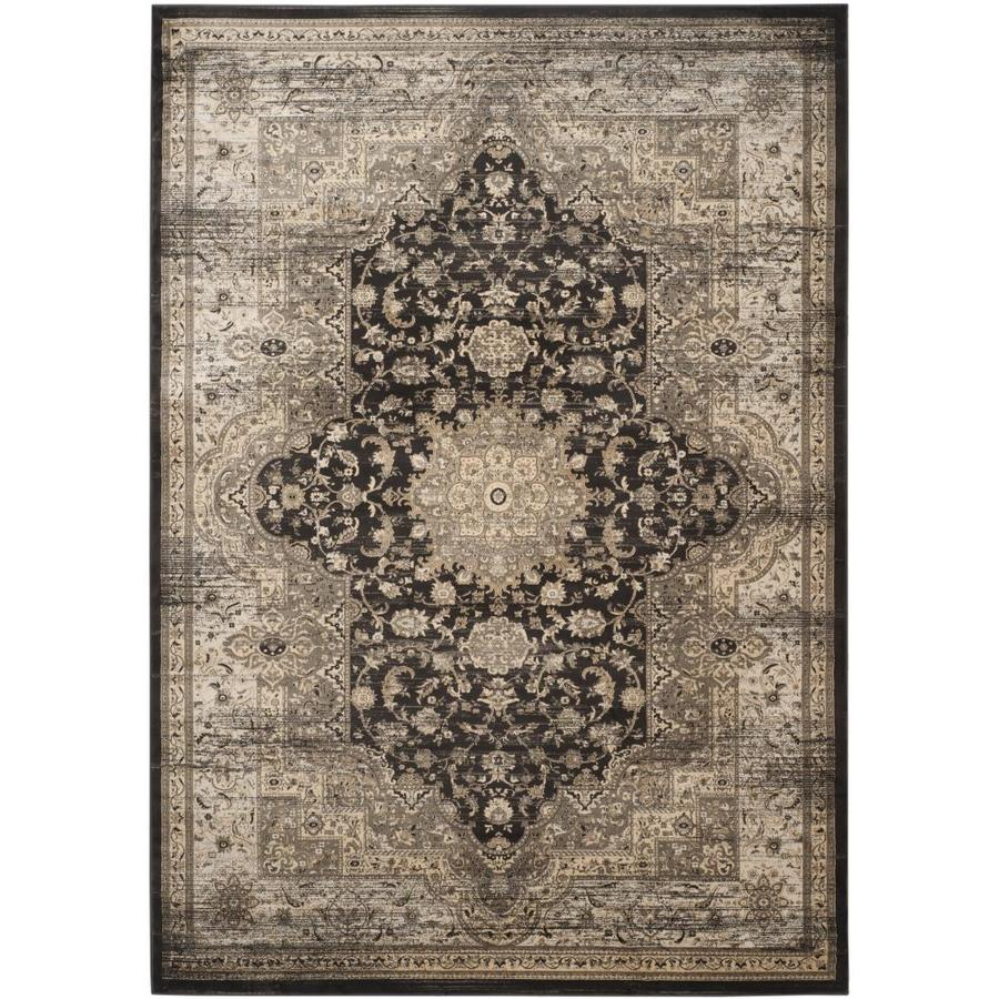 Safavieh Vintage Bijar Black/Ivory Indoor Distressed Area Rug (Common: 7 x 9; Actual: 6.7-ft W x 9.2-ft L)