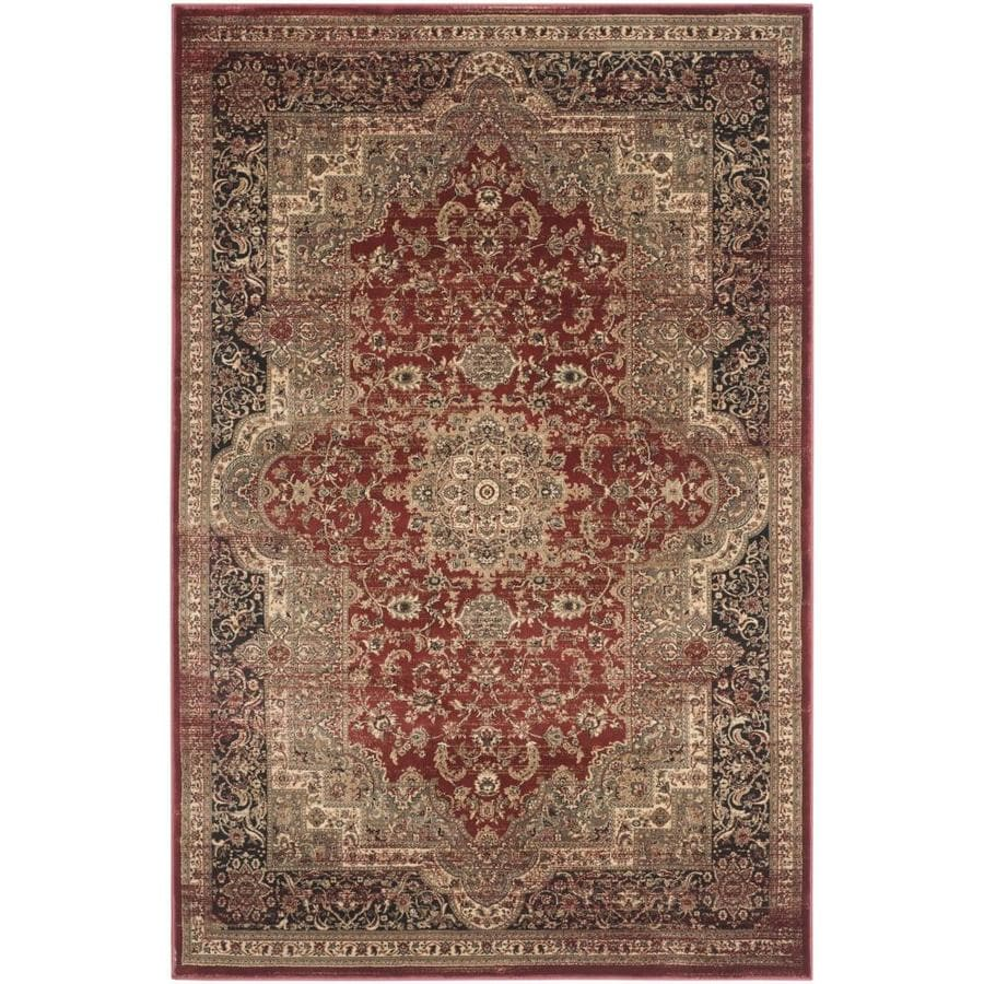 Safavieh Vintage Bijar Rust/Black Rectangular Indoor Machine-made Distressed Area Rug (Common: 4 x 6; Actual: 4-ft W x 5.6-ft L)