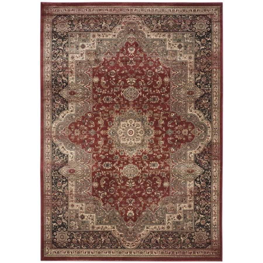 Safavieh Vintage Rust/Black Rectangular Indoor Machine-Made Area Rug