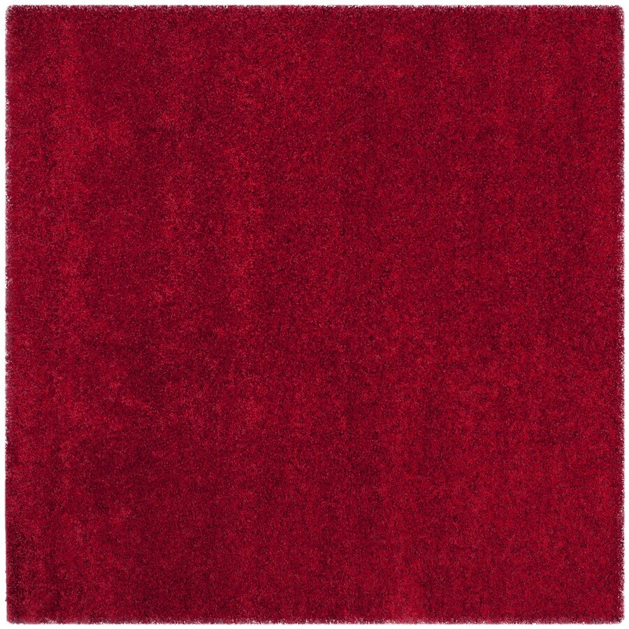 Safavieh California Shag Red Square Indoor Machine-Made Area Rug