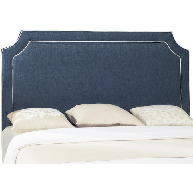Safavieh Dane Denim Blue White Piping Full Synthetic Upholstered Headboard In The Headboards Department At Lowes Com