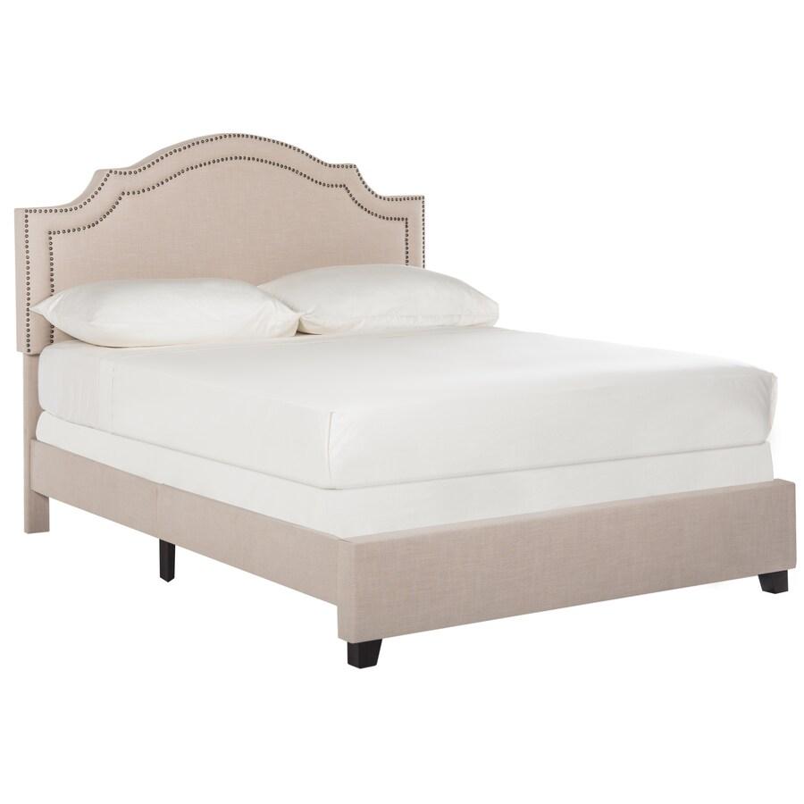 Safavieh Theron Light Beige Queen Bed Frame