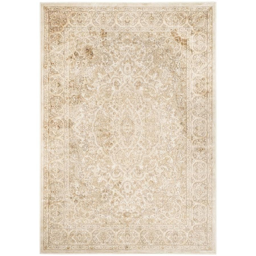 Safavieh Paradise Callia Stone/Cream Indoor Distressed Area Rug (Common: 4 x 6; Actual: 4-ft W x 5.6-ft L)