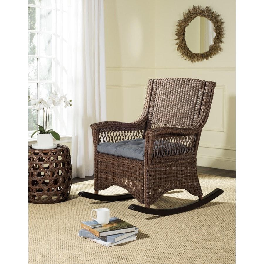 Safavieh Aria Coastal Brown Rocking Chair At Lowes Com